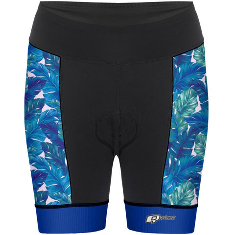Blue Leafs - Women Cycling Shorts