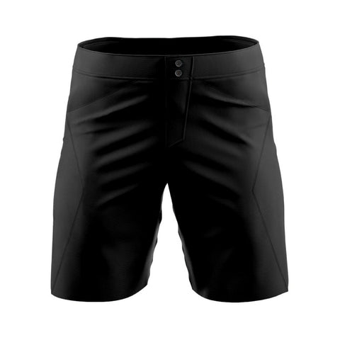 Solid Black - MTB baggy shorts