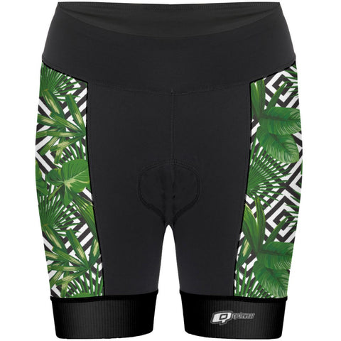 Green Leafs - Women Cycling Shorts