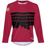 Blood Stripes - MTB Long Sleeve Jersey
