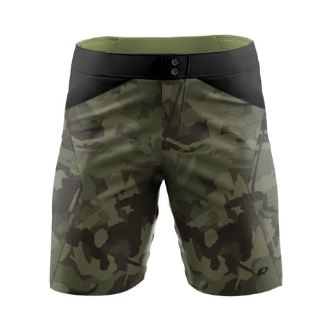 Green Camo - MTB baggy shorts