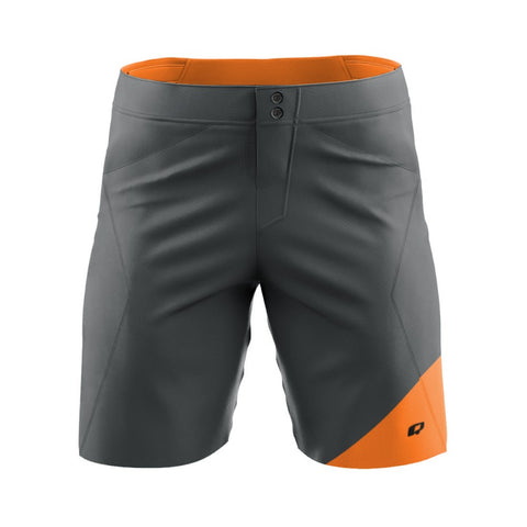 Baxter Gray-Orange - MTB baggy shorts