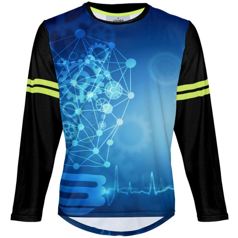 Blue Idea - MTB Long Sleeve Jersey