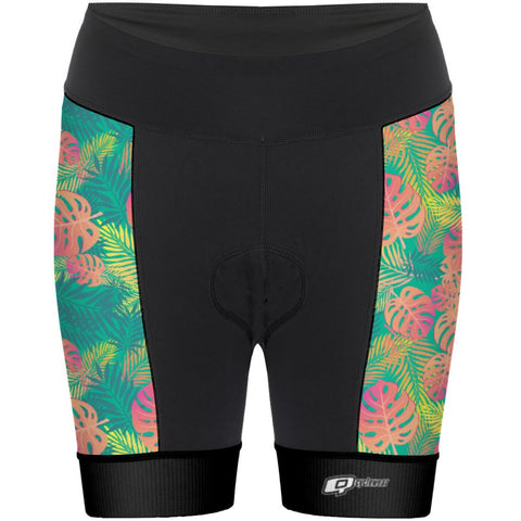 Orange Leafs - Women Cycling Shorts
