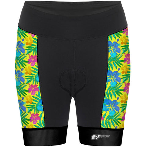 Yellow Flowers - Cycling Shorts