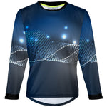Blue Particles - MTB Long Sleeve Jersey