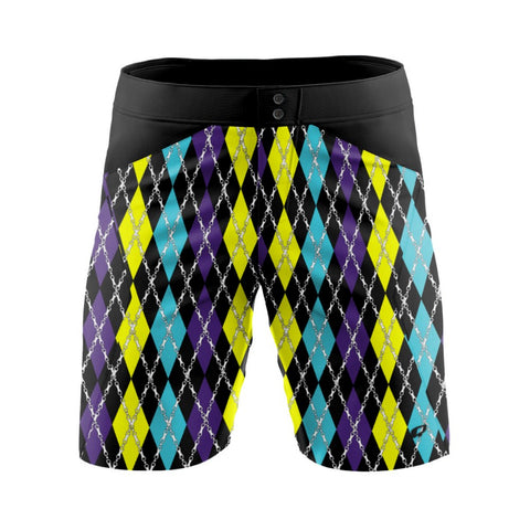 Party Argyle - MTB baggy shorts