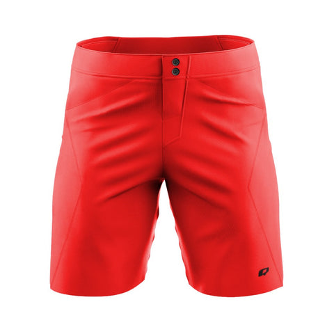 Solid Red - MTB baggy shorts