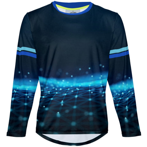 Blue Dots - MTB Long Sleeve Jersey