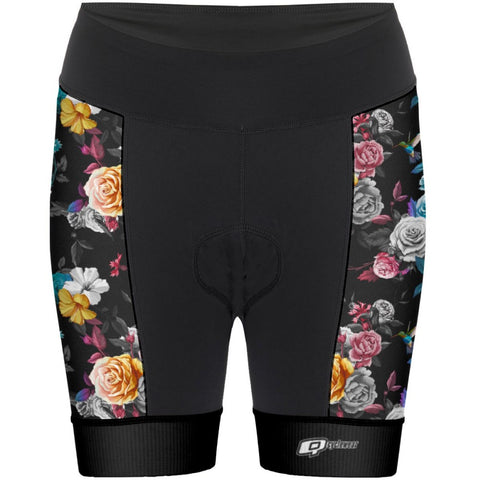 Blue Roses - Women Cycling Shorts