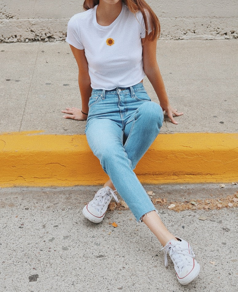 NYCT Clothing Sunflower Cropped Tee