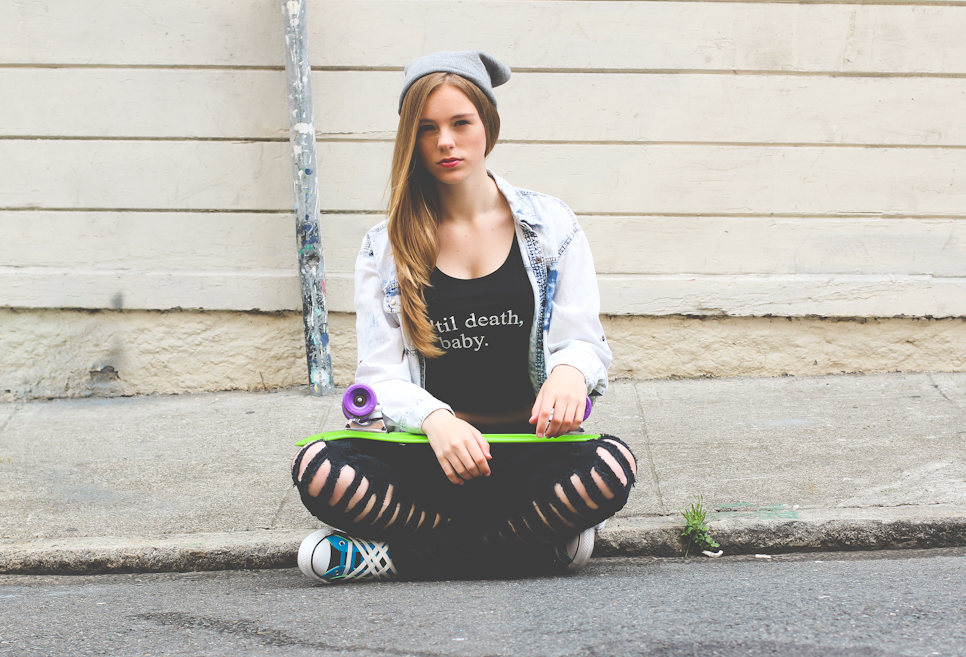 NYCT Clothing Til Death Baby Crop Top