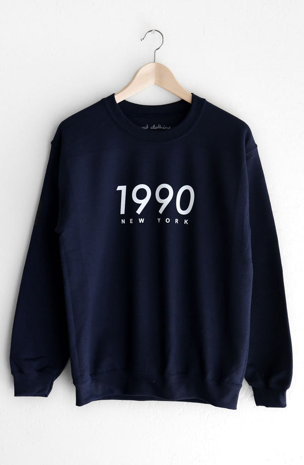 NYCT Clothing 1990 New York Oversized Sweatshirt - Navy