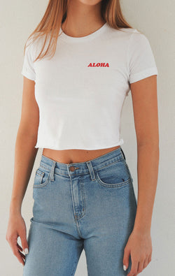 NYCT Clothing Aloha Cropped Tee