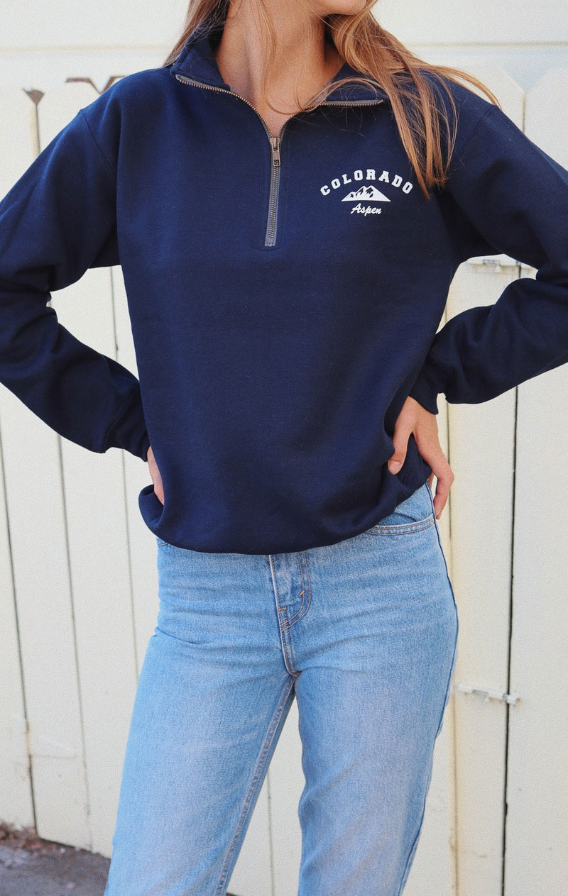 NYCT Clothing Aspen Colorado Half Zip Sweatshirt
