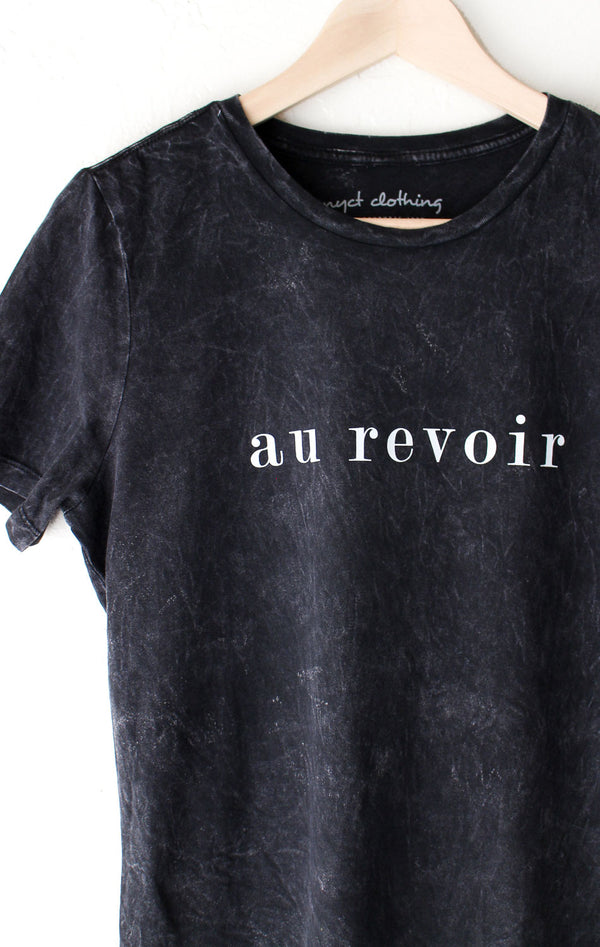 NYCT Clothing Au Revoir Relaxed Tee - Acid Wash Black