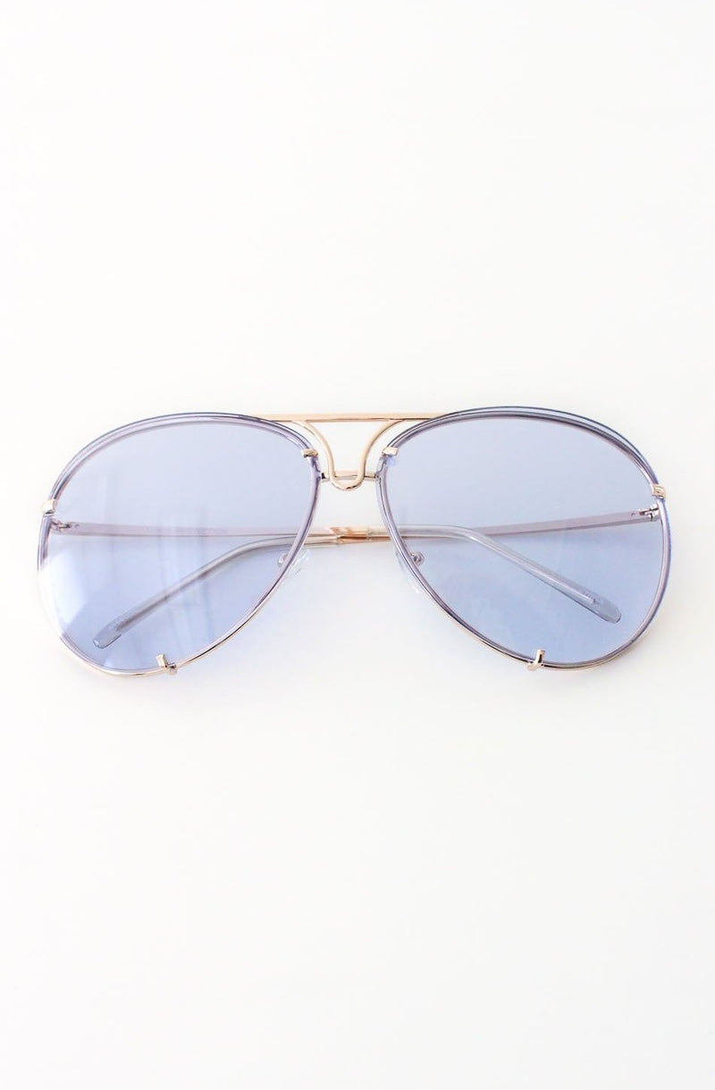 NYCT Clothing Aviator Sunglasses - Blue