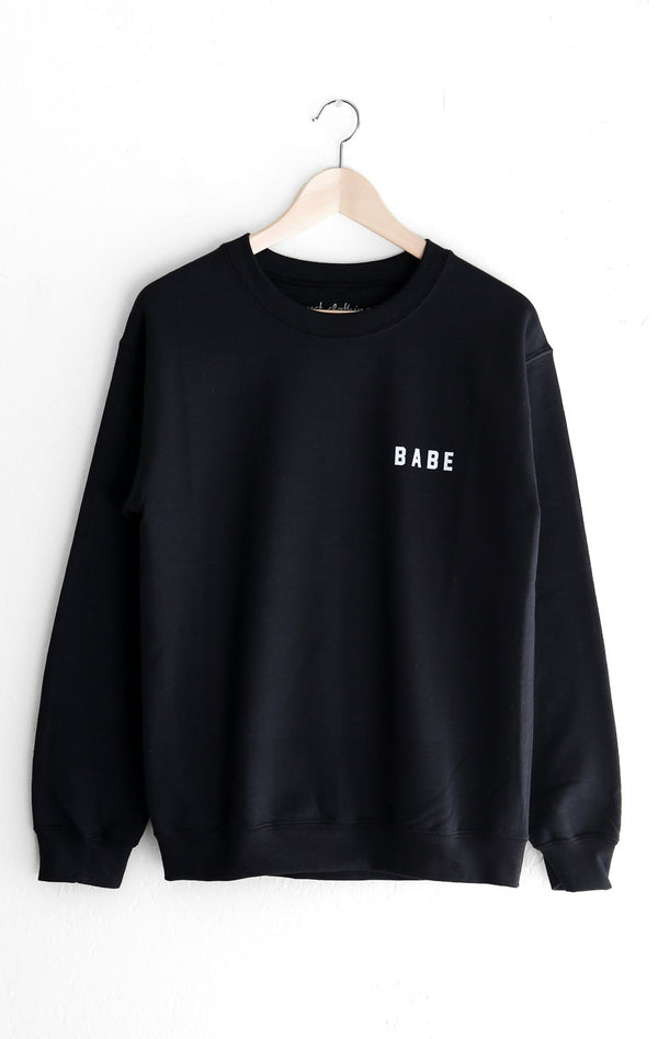 NYCT Clothing Babe Sweatshirt - Black