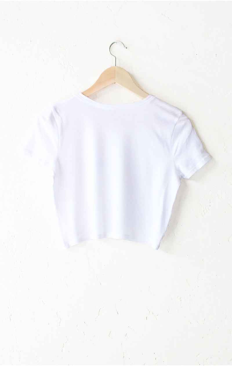 NYCT Clothing Babe Crop Tee - White