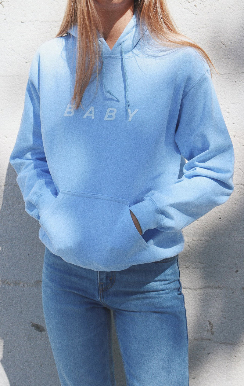 NYCT Clothing Baby Oversized Hoodie - Light Blue