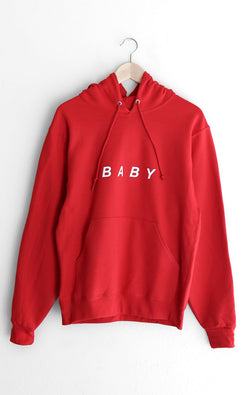 NYCT Clothing Baby Oversized Hoodie - Red