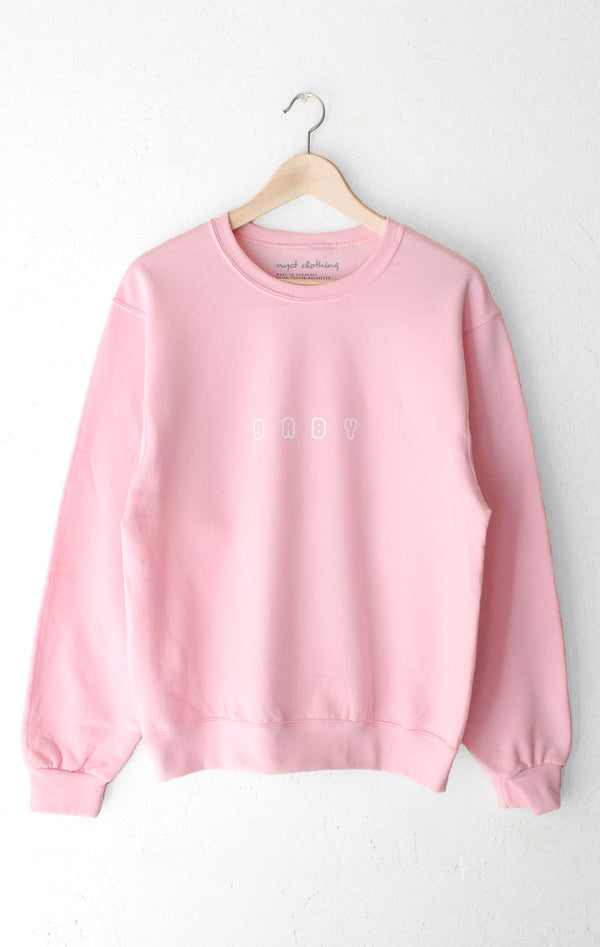 NYCT Clothing Baby Oversized Sweatshirt - Pink