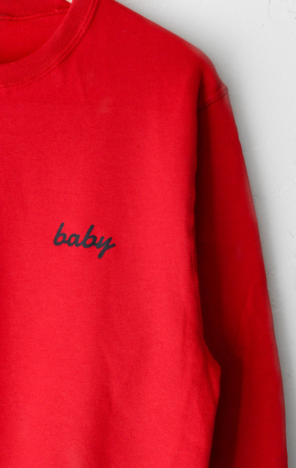 NYCT Clothing Baby Oversized Sweatshirt - Red