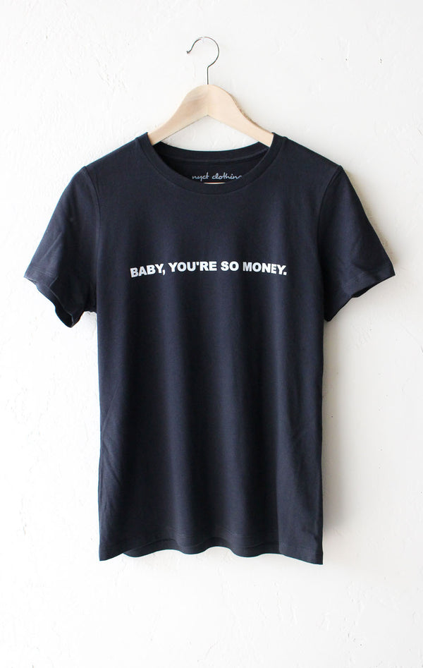NYCT Clothing Baby You're So Money Relaxed Tee - Vintage Black