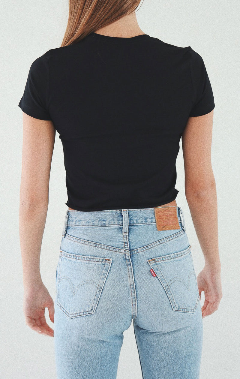 NYCT Clothing Butterfly Cropped Tee