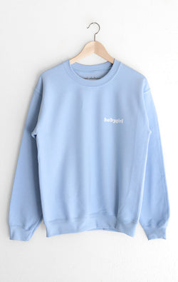 NYCT Clothing Babygirl Oversized Sweatshirt - Light Blue