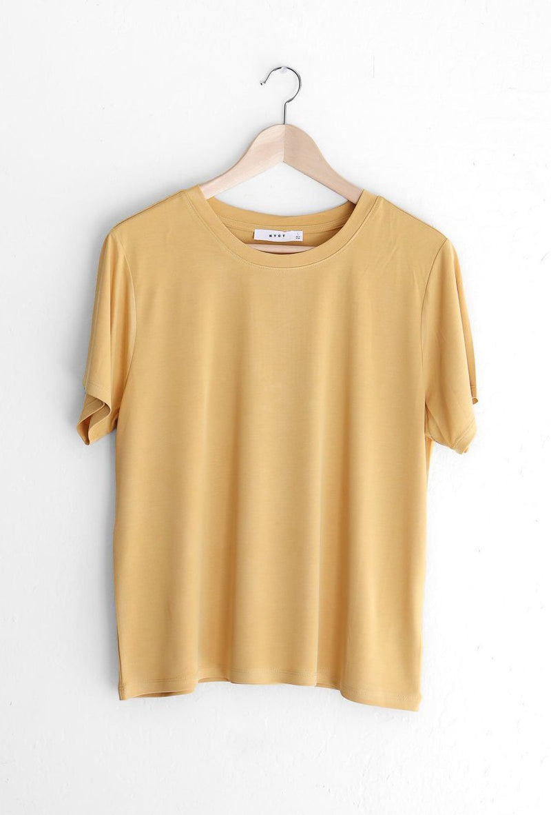 NYCT Clothing Basic Tee - Mustard
