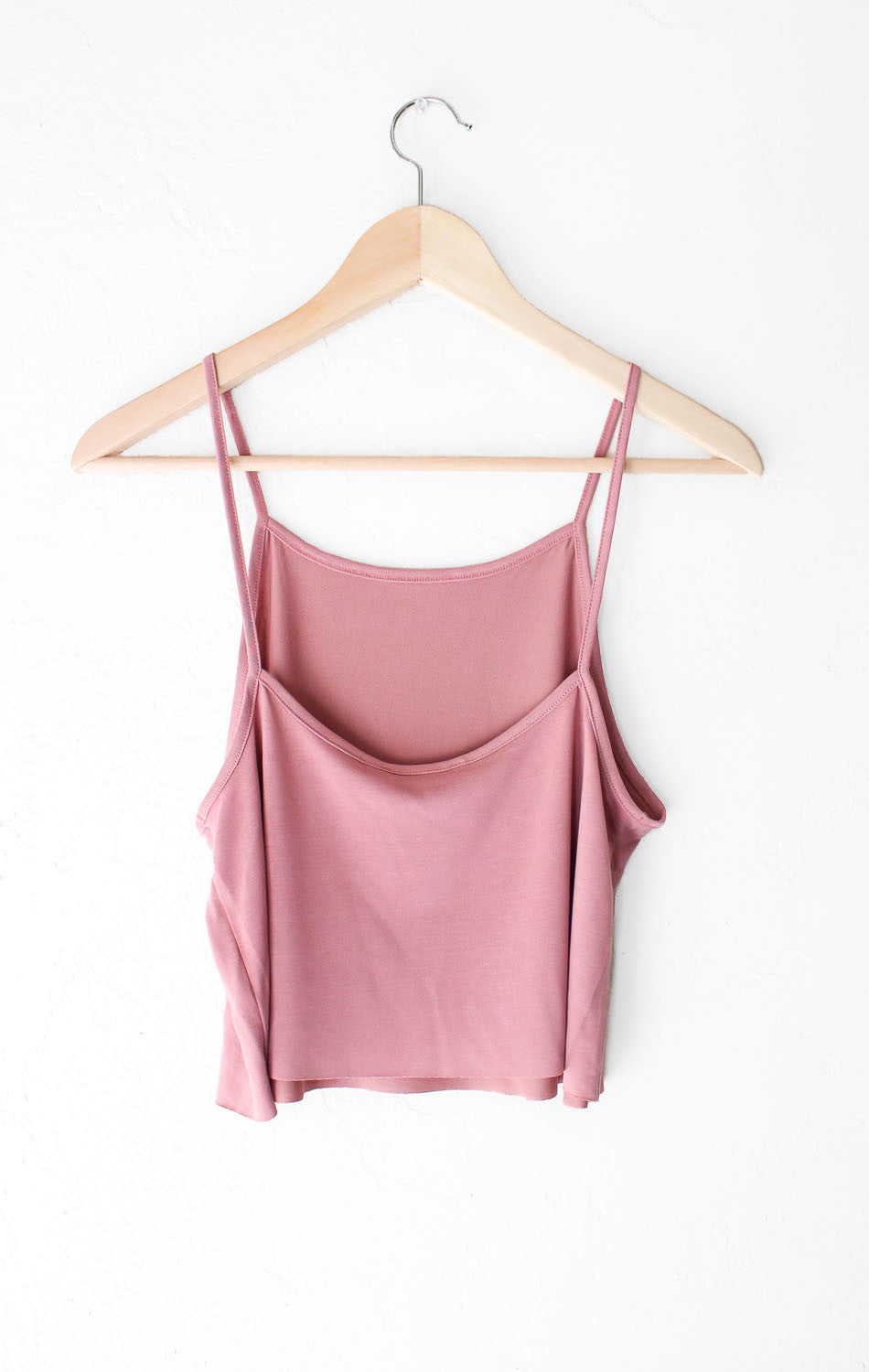 NYCT Clothing Basic Cropped Cami - Vintage Rose