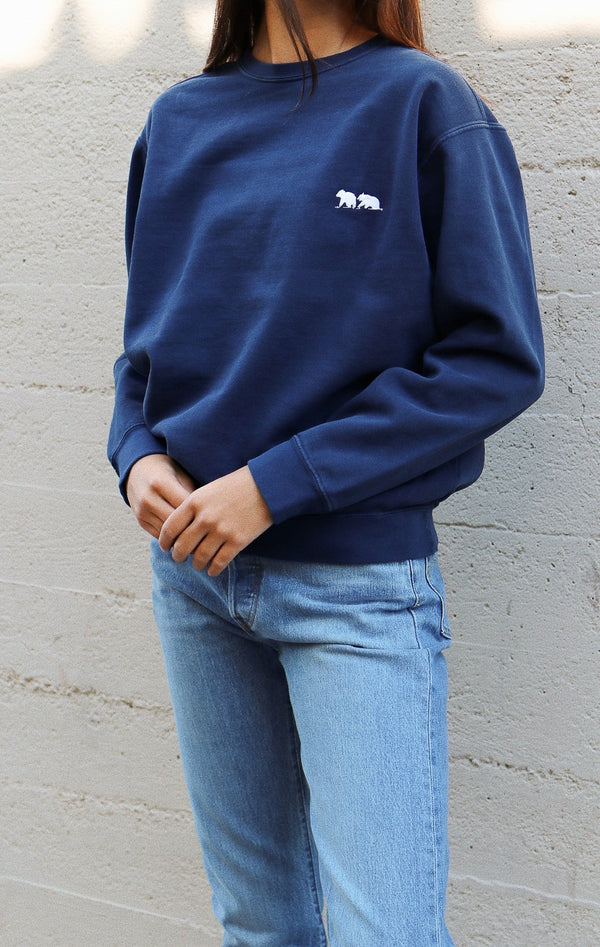 NYCT Clothing Bear Embroidered Sweatshirt - Navy