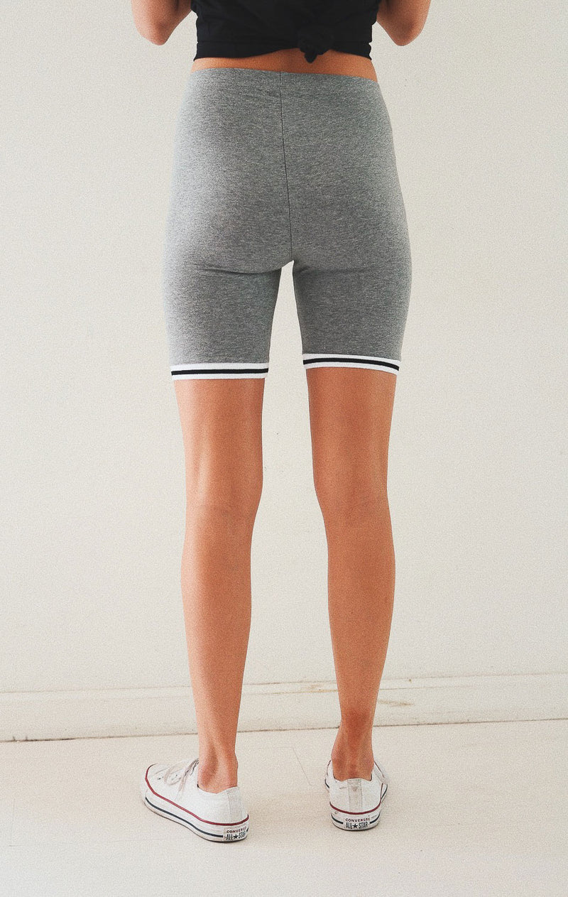 NYCT Clothing Biker Shorts - Grey