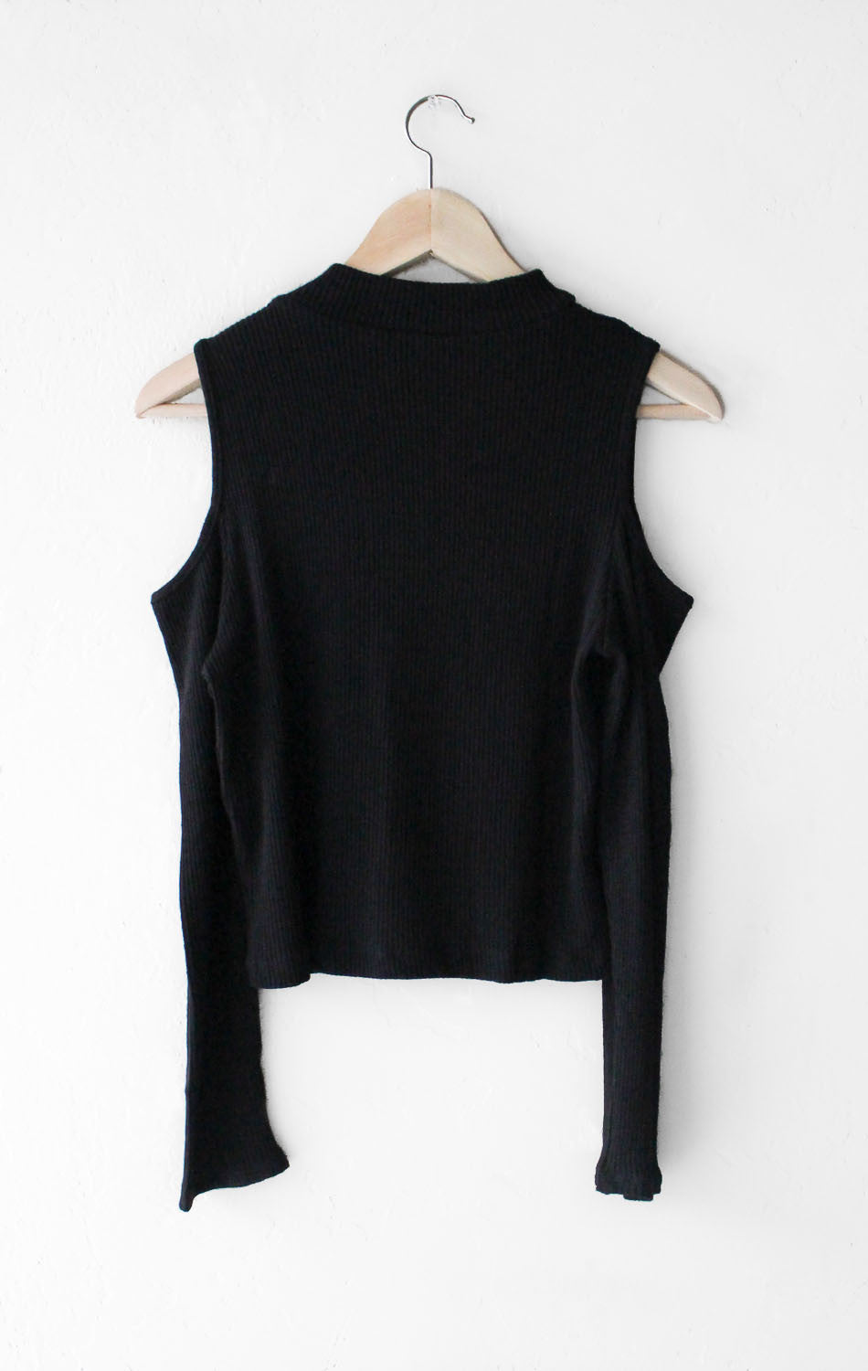 NYCT Clothing Cold Shoulder Crop Top