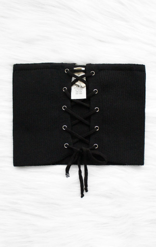 NYCT Clothing Lace Up Corset Belt