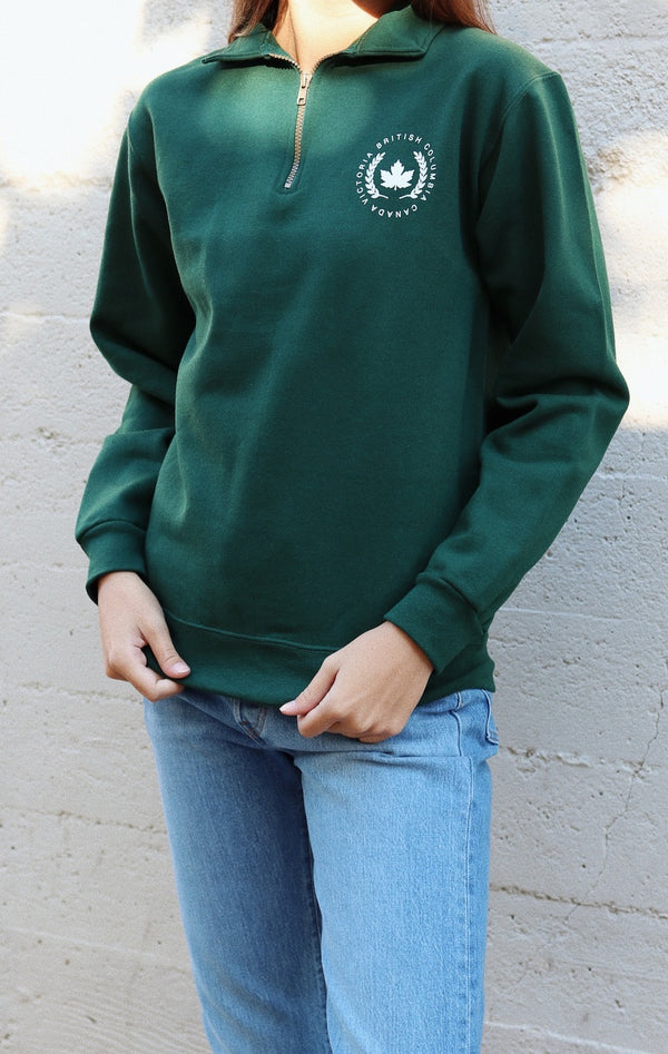 NYCT Clothing Victoria British Columbia Half Zip Sweatshirt