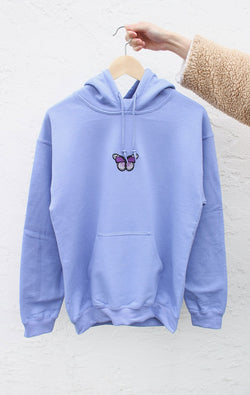 NYCT Clothing Butterfly Hoodie - Violet