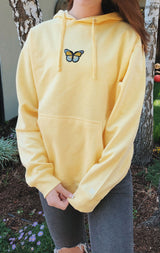 NYCT Clothing Butterfly Hoodie Yellow