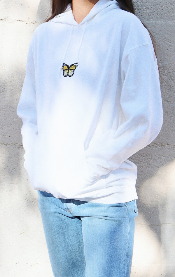NYCT Clothing Butterfly Hoodie - White