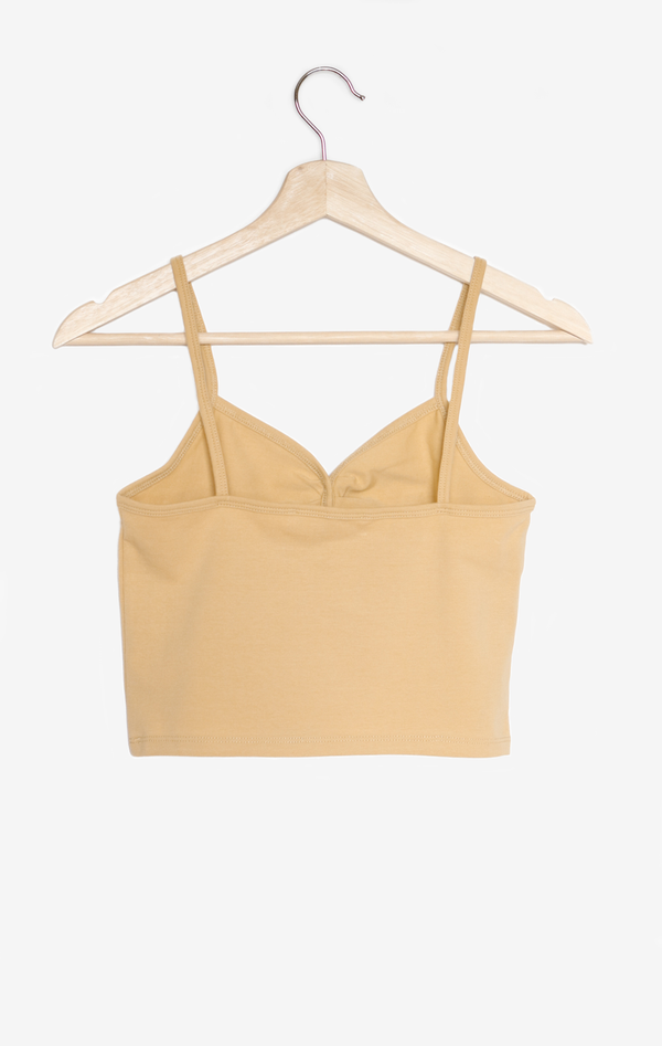 NYCT Clothing Button Front Cami Crop Top