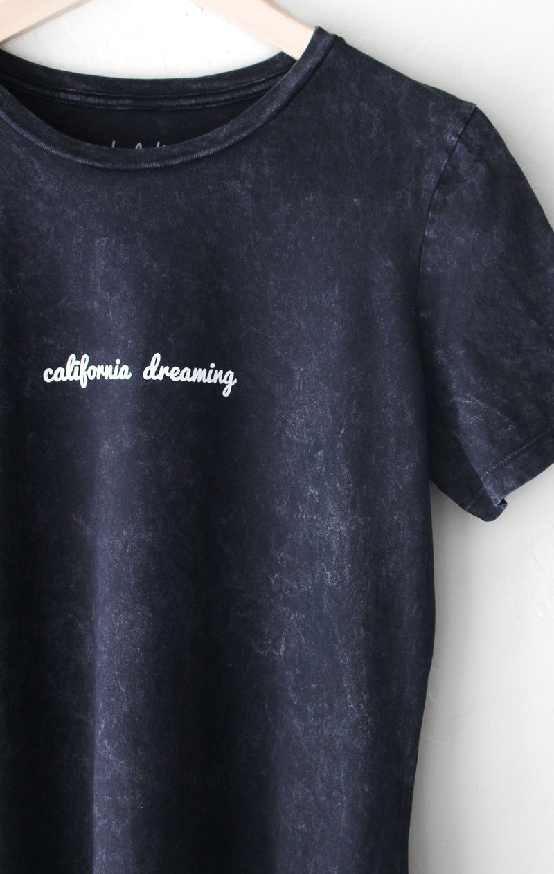 NYCT Clothing California Dreaming Relaxed Tee - Acid Wash Black