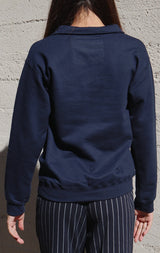 NYCT Clothing California Half Zip Sweatshirt - Navy