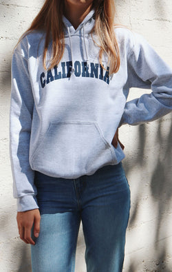 NYCT Clothing California Hoodie - Ash Grey