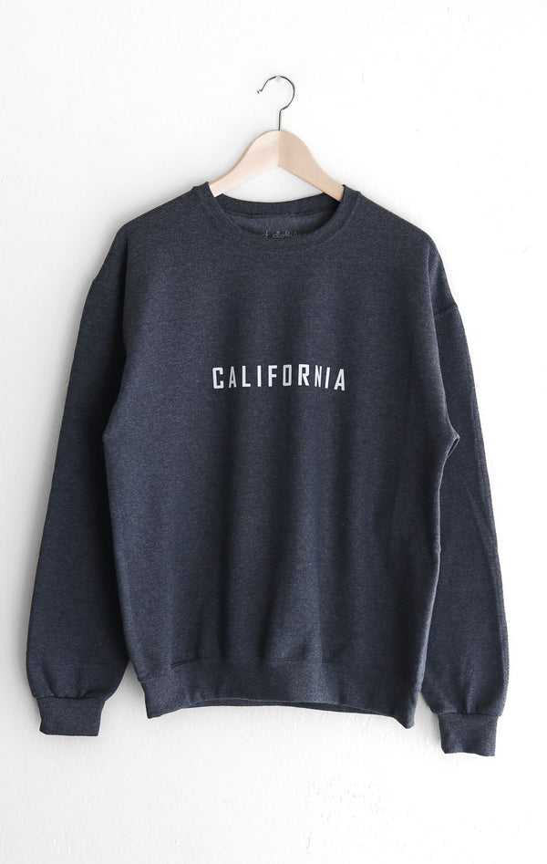 NYCT Clothing California Sweatshirt - Dark Heather Grey
