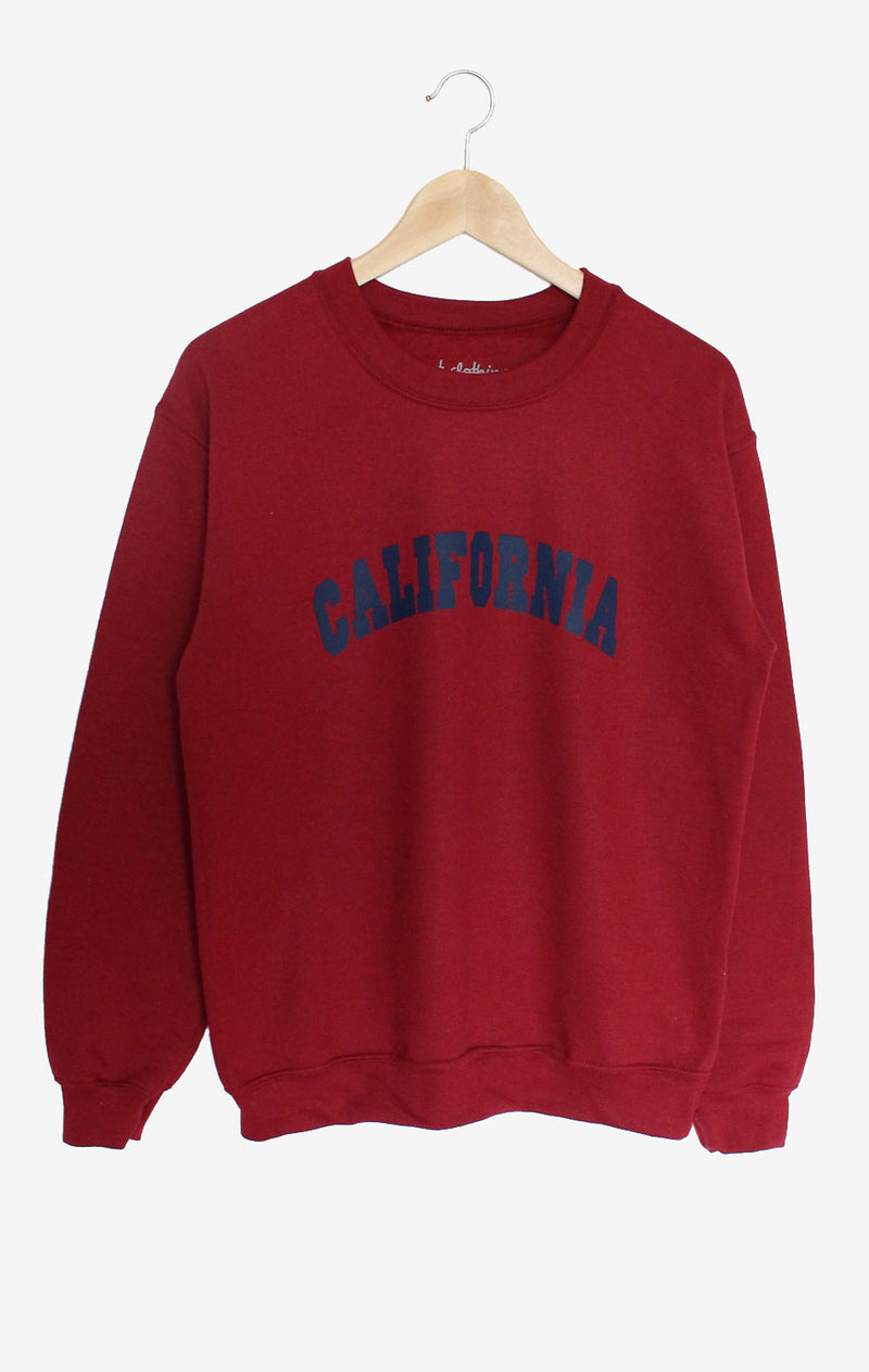 NYCT Clothing California Sweatshirt - Dark Red