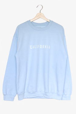 NYCT Clothing California Oversized Sweatshirt - Light Blue
