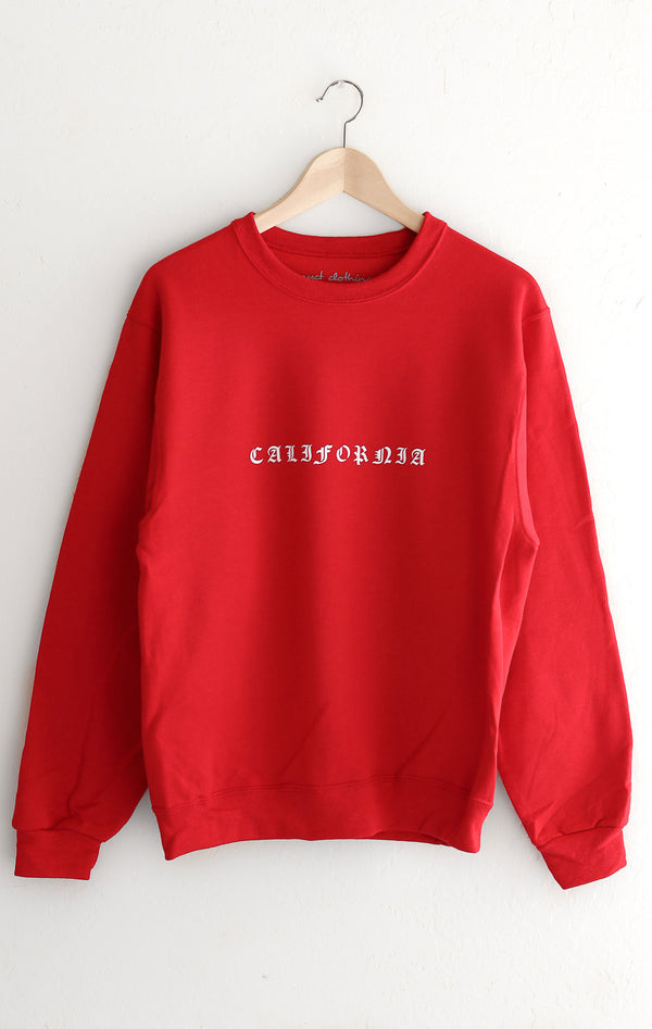 NYCT Clothing California Oversized Sweatshirt - Red
