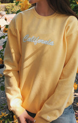 NYCT Clothing California Sweatshirt - Yellow