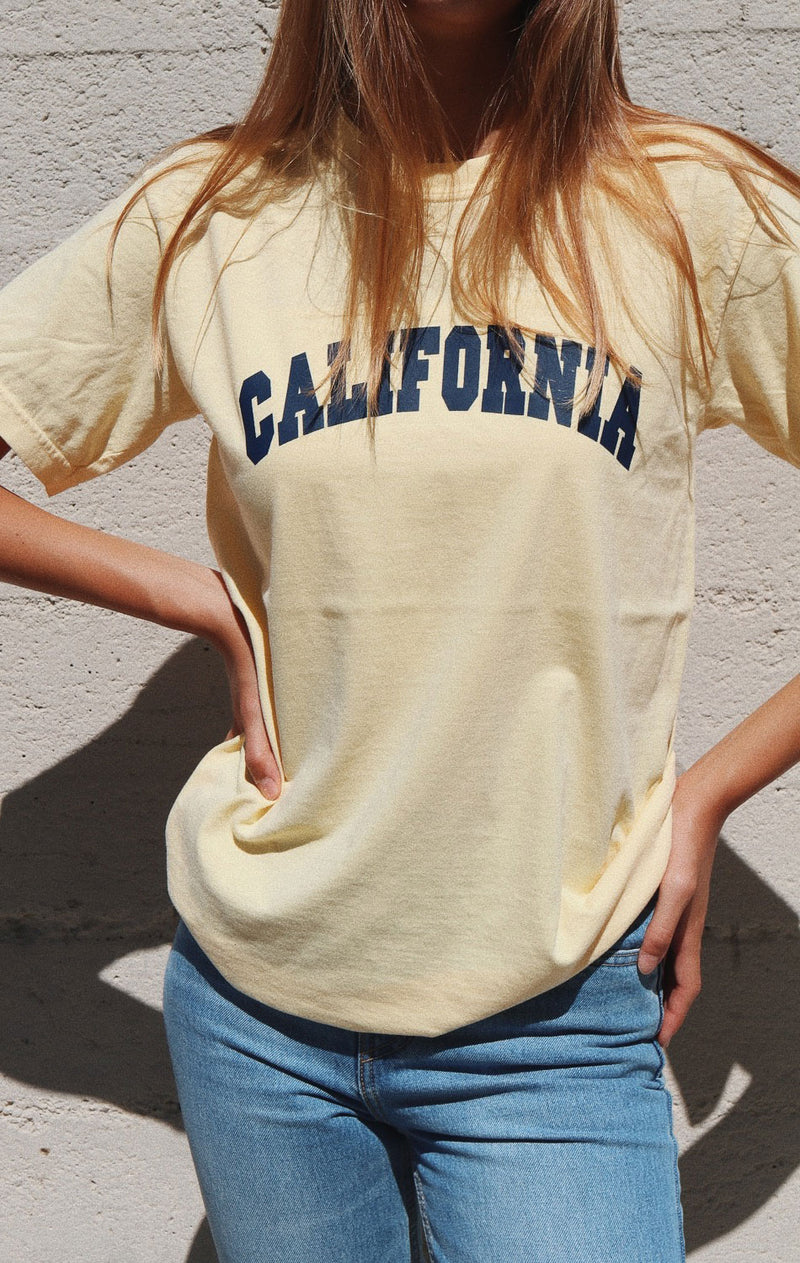 NYCT Clothing California Tee - Light Yellow